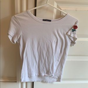 brandy melville shirt with a rose